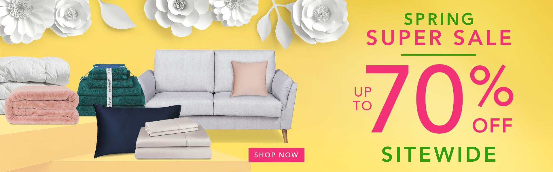 Spring Super Sale Homepage Banner